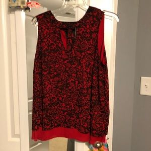 Torrid neck cut out tank with tie on back of neck